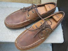 Timberland Used Brown Leather Top-Siders Boat Shoes 12