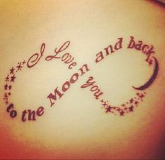 i love you to the moon and back tattoo - Google Search