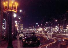 Lumières sur les Champs-Élysées, en 1961