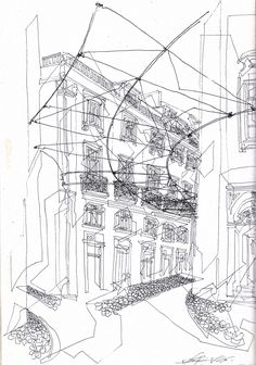 Madalena Street, Lisbon, Portugal  #sketch #sketching #urbansketchers #theheadlessketcher #drawing #sketchbook #architecture #Portugal #uskp #pendrawing #watercolor