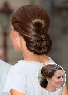 Kate Middleton – Perfectly Pulled Together. Volume at the crown and a braided…