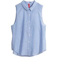 H&M Sleeveless blouse ($6.56) via Polyvore