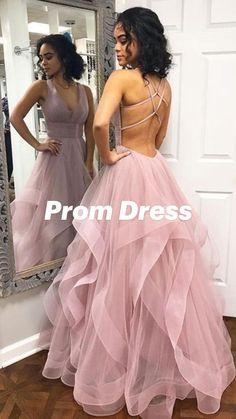 Prom Dresses Long Pink, Straps Prom Dresses, Open Back Prom Dresses, Backless Prom Dresses, Formal Evening Dresses, Dress Prom, Dress Long, Dresses Dresses, Different Prom Dresses