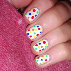 #childreninneednails #childreninneed #CIN #nailart #polkadotnails #colournails #whitenails #donate
