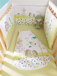 Embroidered Cot Bumper SECRET GARDEN
