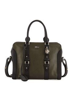 6a1af7b913 Alexander McQueen Small Padlock Zip Satchel Bag
