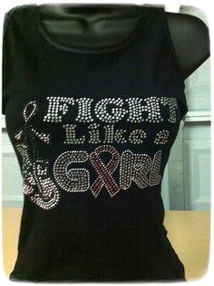 Fight Like a Girl for Brest Cancer by ElegantSplendor on Etsy, $25.00