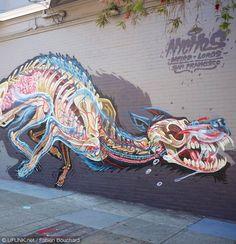 Street Art Anatomy – Une nouvelle création de Nychos