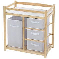 recomendable TecTake Cambiador de pañales para bebés mueble cómoda estante con 4 cestas Encuentra más en http://www.cunas-para-bebes.net/tienda/producto/tectake-cambiador-de-panales-para-bebes-mueble-comoda-estante-con-4-cestas/
