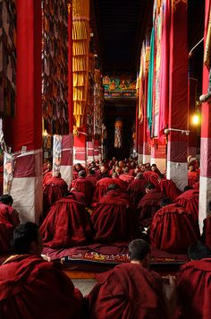 Tibetan Buddhist Monks in Drepung Monastery* Arielle Gabriel writes about miracles and travel in The Goddess of Mercy & The Dept of Miracles also free China toys and paper dolls at The China Adventures of Arielle Gabriel *