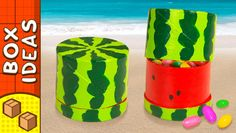 DIY Miniature Water Melon Gift Box | Craft Ideas for Kids - YouTube