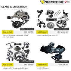 We have wide range of gears, crank set, pedals, cassette and cogs, that you will need to create or repair your bike. Shop Now: bit.ly/GEARSandDRIVETRAIN #MountainBike #BikeRepair #NgProBike Road Bike Accessories, Cogs, Mountain Biking, Gears, Shop Now, Range, Create, Cookers, Gear Train