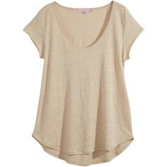 CALYPSO St. Barth Vima Linen V Neck Tee ($75) ❤ liked on Polyvore featuring tops, t-shirts, shirts, cap sleeve tee, pink top, v neck tee, layering tee and linen v neck tee