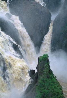 Fllod in Barron Falls, North Queensland, Australia.