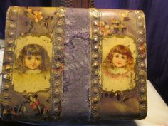 Antique Victorian sewing box or jewelry box