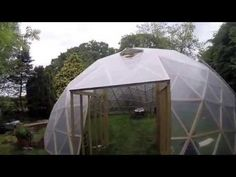 Geodesic dome plans, kits calculation tools and information about building geodesic structures. Paul Robinson, Geodesic Dome, Greenhouses, Tiny Houses, Outdoor Gear, Rv, Tent, Garden Ideas, Construction