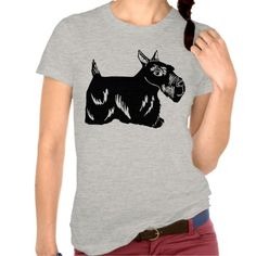 Scottie Dog Heather Grey Women's T-Shirt; Abigail Davidson Art; ArtisanAbigail at Zazzle