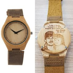 Mens Wooden Watch, Personalized Wooden Watch for Man, Anniversary Gift Wooden Watches For Men, Watch Engraving, Grandpa Gifts, Groomsman Gifts, Graduation Gifts, Wood Watch, Anniversary Gifts, Personalized Gifts, Valentines