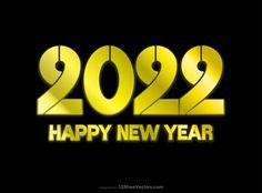 Free New Year Gold Background 2022 Illustration