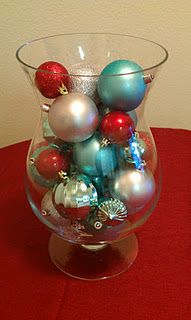 Blue, Silver and Red Christmas decorations
