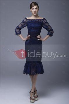 完璧なシース/シースライン肩膝長さElaの母ドレス
