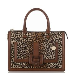 Our Brookline Satchel featured in cheetah print. This fall's go-to neutral.
