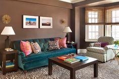sofá azul decoração - Pesquisa Google
