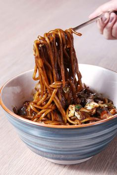 # Food and Drink vegetarian black beans How to Make Authentic Jjajangmyeon-Korean Black Bean Noodles Korean Black Bean Noodles, Recipes With Korean Noodles, Black Noodles, Black Bean Pasta, Asian Recipes, Healthy Recipes, Asian Foods, Healthy Food, Korean Dishes