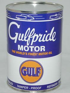 Gulfpride Oil Can. #collectible #nostalgia www.gaspumpheaven.com
