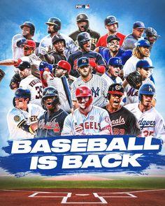 "MLB on FOX on Instagram: ""BASEBALL. IS. BACK. ⚾️"" Baseball Today, Baseball Season, Dodgers, Bring The Heat, Mlb Players, World Series, Chicago Cubs, Ufc, Seasons"