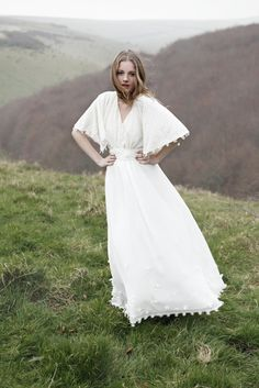I described and sketched the dress I wanted to my mom. She has been sending me links to dresses ever since. And THIS one is perfect. Love it! Adele dress | Bridal | Minna.co.uk
