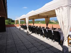 The terrace where we organize the wines tasting during the summer!