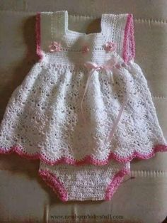Crochet Baby Dress Grazu...