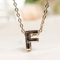 * Penny Deals * - Lovely gift Fashion Women Men Unisex English Letters Alphabet Words Style Pendant Necklace 1pc F *** Be sure to check out this awesome product.