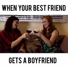 When your best friend gets a boyfriend, it can be really tough to deal with the change in your best-friendship. Single Girl Problems, Dating Tips For Women, Dating Advice, When Your Best Friend, Get A Boyfriend, Online Dating Profile, Love Dating, Best Friendship, Facebook Humor