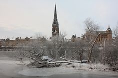 Perth, Snow & Ice on the River Tay