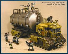 Click this image to show the full-size version. Warhammer 40k Figures, Warhammer Models, Warhammer 40000, Warhammer Art, Necromunda Gangs, Sci Fi Miniatures, Donk Cars, Imperial Knight, 40k Terrain