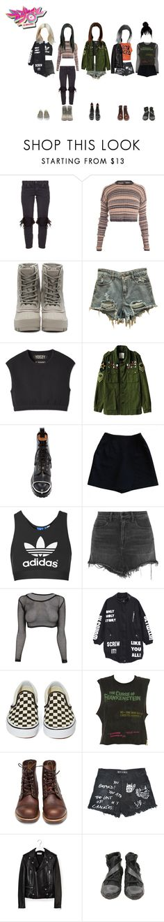 """""""Music Bank: 썸 (Goodbye Stage)"""" by ingenueotaku ❤ liked on Polyvore featuring OneTeaspoon, Mark Fast, adidas Originals, Alexander Wang, Topshop, Vans, Red Wing, Yves Saint Laurent and Y's by Yohji Yamamoto"""