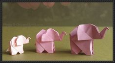 fácil DIY Origami Elephant by origamispirit: Total strangers will turn into friends wh. DIY Origami Elephant by origamispirit: Total strangers will turn into friends when you hand them one of these! Diy Origami, Design Origami, Origami And Kirigami, How To Make Origami, Origami Tutorial, Origami Ideas, Origami Books, Origami Folding, Origami Cards