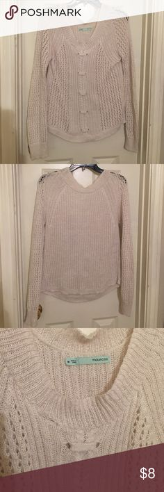 White Sparkly Loose-Knit Sweater Lightly worn, good condition. Maurices Sweaters