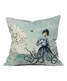 Sea Fairy Throw Pillow from Deny Designs. Saved to DENY Designs Throw Pillows.
