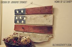 PATRIOTIC themed linkup party via Funky Junk Interiors