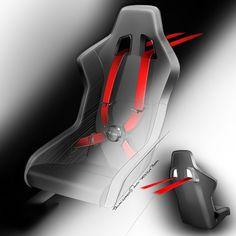 Audi TT ultra quattro concept - seat design sketch