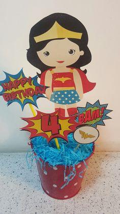 Centro de Mesa  Wonder Woman/ Mujer Maravilla Facil de hacer! Hazlo tu misma!
