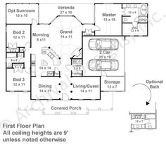 Crosswell Place House Plan - First Floor Plan