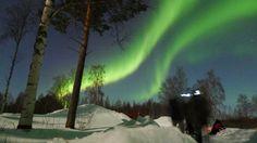 3/2這團太幸運了!可以看到這樣規模的極光!— 在Rovaniemi, Lapland。