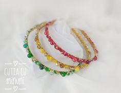 Yellow beaded headband/ Green beaded hair vine/ Coronite din mărgele și cristale/ Red crystals and small sand beads hair accessories Crystal Beads, Crystals, Hair Beads, Hair Vine, Vines, Hair Accessories, Beaded Bracelets, Yellow, Green