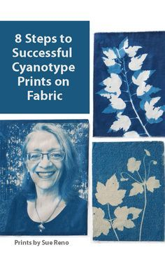 Discover 8 steps to success when creating cyanotype prints on fabric >>