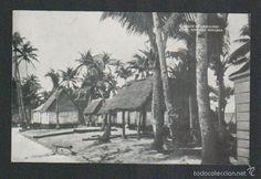 Postales: Islas Carolinas.Rota.Vivienda indígena.Mision de Carolinas.Postal.Post-card. - Foto 1 - 59530875