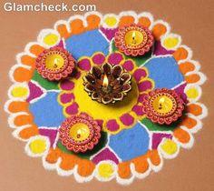 Diwali rangoli designs with diyas